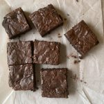 brownies on a crinked paper