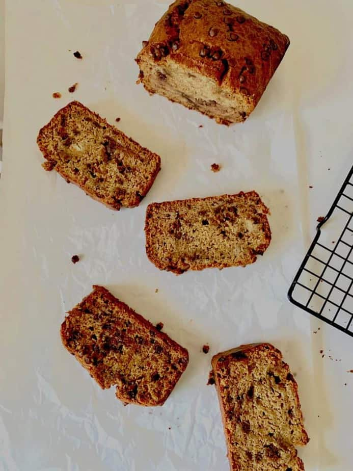 banana bread with chocochip