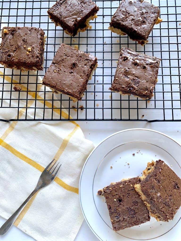 brownie cookie bar