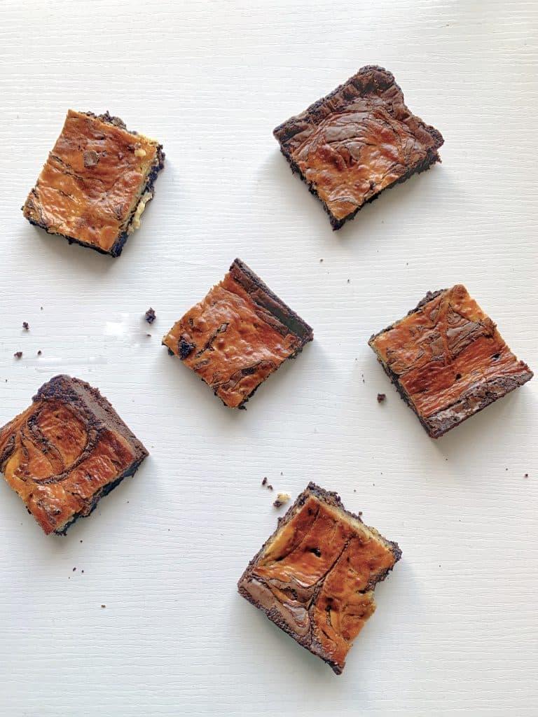 Coffee cheesecake brownies