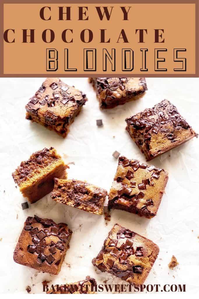 chewy blondie bars