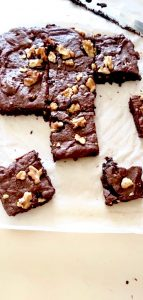 cocoa brownie slices
